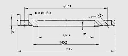 фланец плоский стальной чертеж